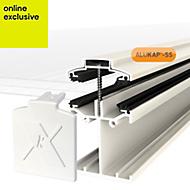 Alukap White Axiome sheet glazing bar, (H)90mm (W)60mm (L)4800mm