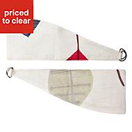 Colours Dario Beige & red Leaf print Curtain tie backs, Pack of 2