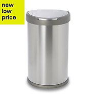 Simplehuman Brushed Stainless steel D shaped Sensor bin, 45L