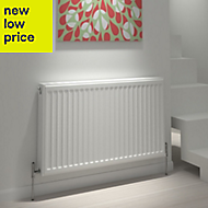 Kudox Type 22 double Panel radiator White, (H)600mm (W)1200mm