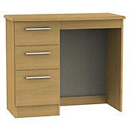 Montana Oak effect 3 Drawer Dressing table (H)800mm (W)930mm (D)410mm