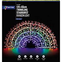 Multicolour LED Rainbow Christmas decoration