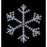 Multicolour LED Snowflake starburst Silhouette