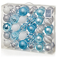 Multicolour Mixed Bauble, Pack of 60