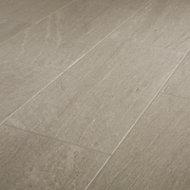 Natural Greige Satin Stone effect Porcelain Wall & floor Tile Sample
