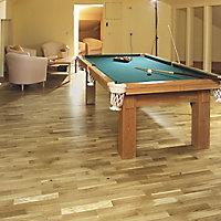 Natural Oak effect Real wood top layer flooring, 2.03m² Pack
