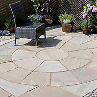 Natural sandstone Autumn green Paving set 4.75m², Pack of 25