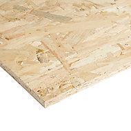 Natural Softwood OSB 3 Board (L)1.22m (W)0.61m (T)12mm