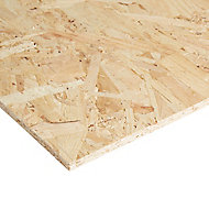 Natural Softwood OSB 3 Board (L)1.22m (W)0.61m (T)9mm
