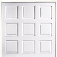 New York Made to measure Framed White Retractable Garage door