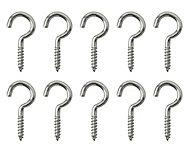 Nickel-plated Metal Single Storage hook (L)25mm, Pack of 10