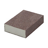 Norton Fine/Medium Sanding sponge (L)100mm (W)68mm