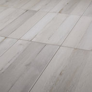 Norwegio Grey Matt Wood effect Ceramic Wall & floor Tile Sample