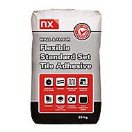 NX Flexible Standard set White Tile Adhesive, 20kg