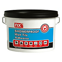 NX Showerproof Ready mixed Bright white Wall tile Adhesive, 2.5kg