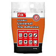 NX Universal Stone white Floor & wall Tile Adhesive, 2.5kg