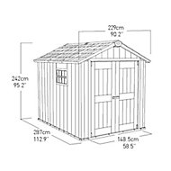 Oakland 9x7.5 Apex Plastic Shed