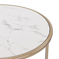 Ocio Champagne marble effect Side table
