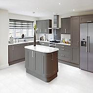 Opulence Vanilla Gloss Stone effect Porcelain Floor tile, Pack of 5, (L)600mm (W)300mm