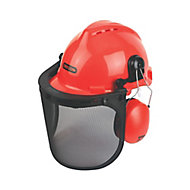 Oregon Red Forestry helmet with Ear defenders & visor