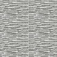 Oscano Grey Matt Plain Stone effect Rectangular Ceramic Wall Tile Sample