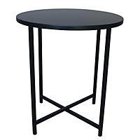 Oscuro Matt black Side table (H)45cm (W)40cm