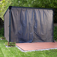 Palram 3K Series Grey Polyester (PES) Gazebo curtain, Pack of 4 (L)2170mm (W)3660mm