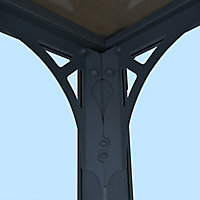 Palram Milano Grey Rectangular Gazebo, (W)4.26m (D)3.09m