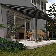 Palram Olympia Grey Non-retractable Awning, (L)6.19m (H)3m (W)3.05m
