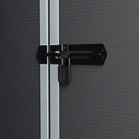 Palram Rubicon 6x10 Apex Dark grey Plastic Shed