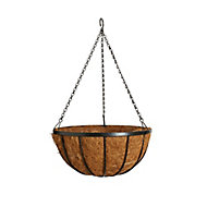 Panacea Classic flat iron appearance Wire Hanging basket, 35cm