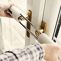 Patlock White Keyless ratchet French door lock, (H)65mm (W)390mm