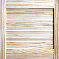 Pine LH & RH Internal Louvre Door, (H)457mm (W)457mm