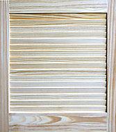 Pine LH & RH Internal Louvre Door, (H)610mm (W)533mm