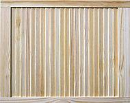 Pine LH & RH Internal Louvre Door, (H)762mm (W)610mm