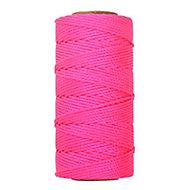 Pink Braided nylon Brick line 0.1m