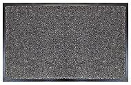 Plain Grey Polypropylene Door mat (L)0.8m (W)0.5m