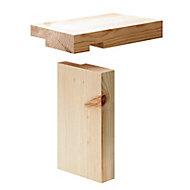 Planed Redwood pine Internal Door lining set, (H)2100mm (W)108mm