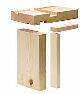 Planed Redwood pine Internal Door lining set, (H)2100mm (W)132mm