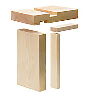 Planed Whitewood spruce Internal Door lining set, (H)2100mm (W)108mm