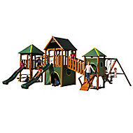 Plum Wildebeest Wooden Climbing frame with swing & slide