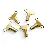 Plumbsure 330mm Radiator key, Pack of 5