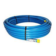 Plumbsure Blue MDPE Push-fit Pipe (L)25m (Dia)25mm
