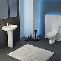 Plumbsure Bodmin Close-coupled Toilet set with Standard close seat