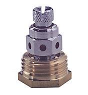 Plumbsure Brass Bottle air vent, (Dia)12.7mm