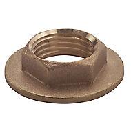 Plumbsure Brass Flange Threaded Backnut (Dia)19mm