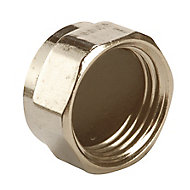 Plumbsure Brass Threaded Blanking cap (Dia)12.7mm