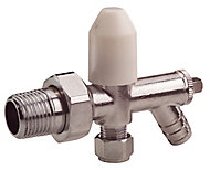 Plumbsure Chrome effect Radiator valve