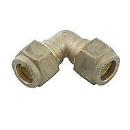 Plumbsure Compression 90° Pipe elbow (Dia)10mm
