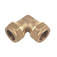 Plumbsure Compression 90° Pipe elbow (Dia)15mm, Pack of 10
